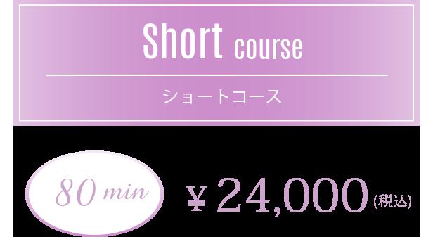 【ショートコース】80min 20,000円(税込)