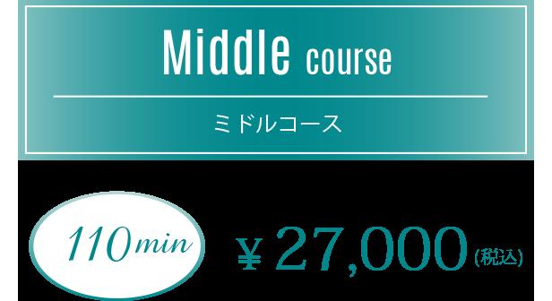 【ミドルコース】110min 24,000円(税込)